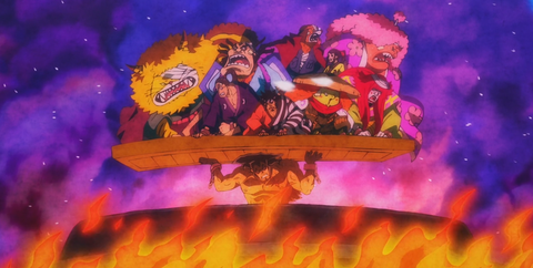 oden saves his crew-boiled to death