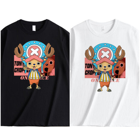 chopper tshirt-black&white