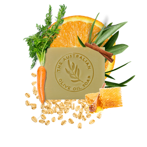 CARROT Honey + Oatmeal - The Australian Olive Oil Soap