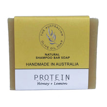 Load image into Gallery viewer, natural shampoo bar with egg and honey no plastic no toxin the australian olive oil soap