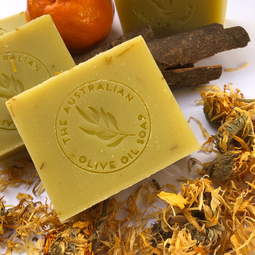 Calendula natural soap with Australian extra virgin olive oil
