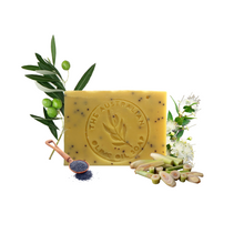 Load image into Gallery viewer, handmade natural Australian olive soap with lemon myrtle lemongrass and poppyseeds