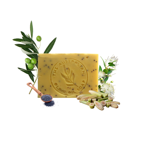LEMONGRASS  Lemon myrtle Poppy seeds - The Australian Olive Oil Soap