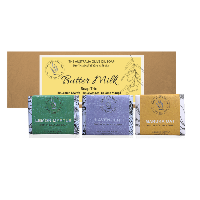 BUTTER GOATMILK Soap Trio Gift Set