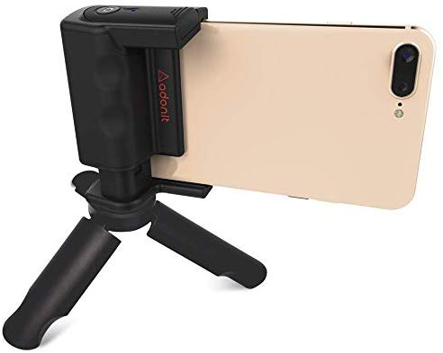 Adonit PhotoGrip (Travel Pack)| Bluetooth Camera Shutter Remote | Mini Tripod & Grip Carry Pouch | For iPhone X/iPhone 8/Plus/Samsung Galaxy S9/Plus/S8/Plus/S7 Samsung Edge Note 8/9 Brand New