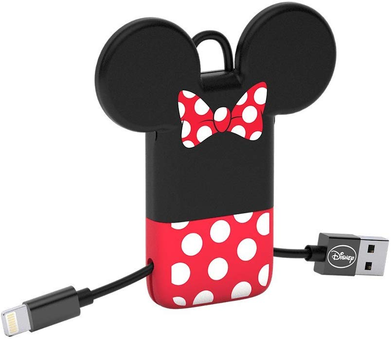 Tribe Disney USB to Lightning Sync&Charge Cable for Apple iPhone (Apple MFi Certified), 22 cm - Minnie Mouse