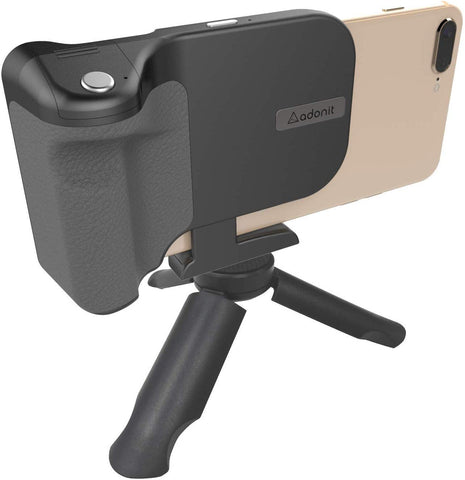 Adonit PhotoGrip (Qi Pack)| Bluetooth Camera Shutter Remote | Wireless Charging | Mini Tripod & Grip Carry Pouch | For iPhone X/iPhone 8/+/Samsung Galaxy S9/+/S8/+/S7 Samsung Edge Note 8/9 ( Brand New)