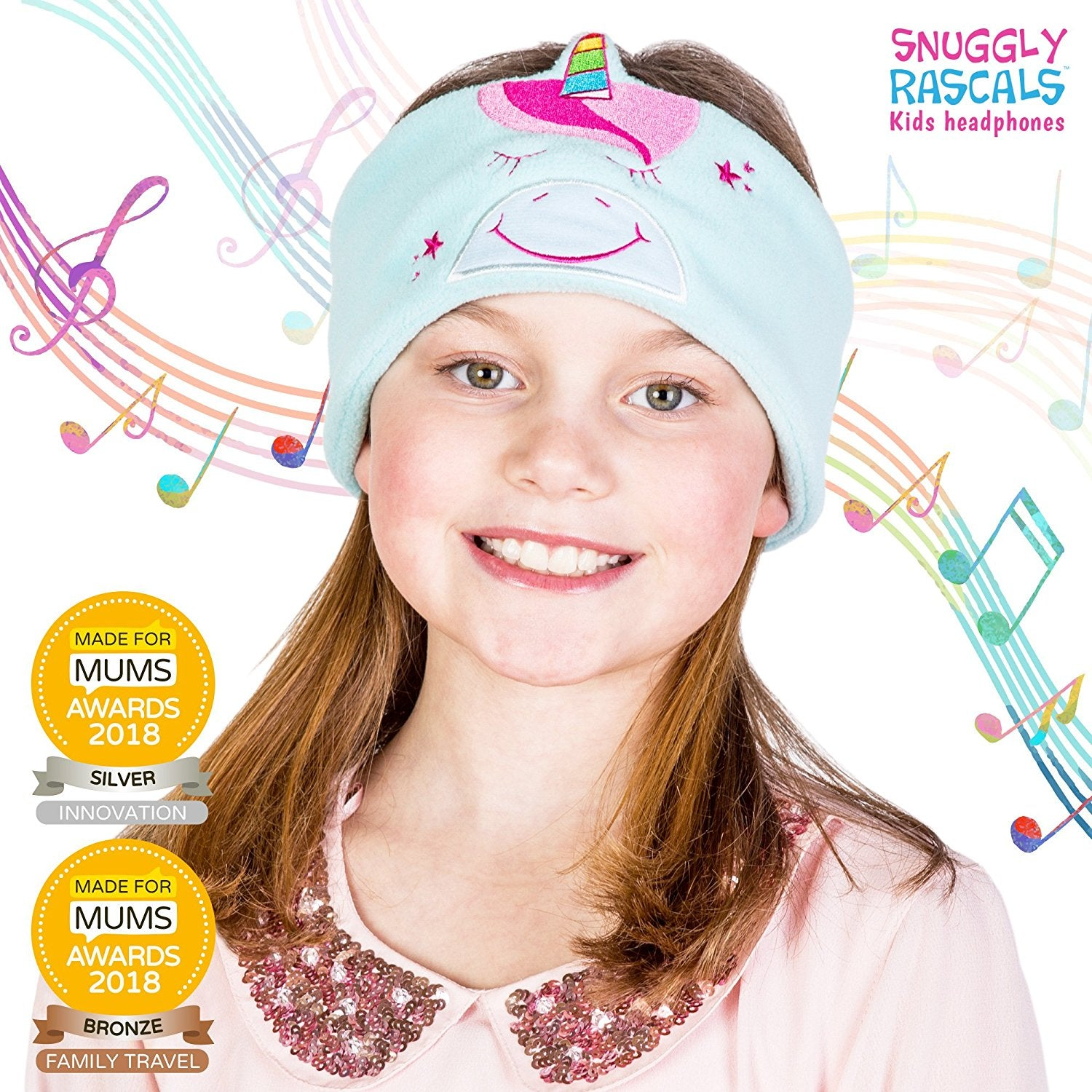 Snuggly Rascals (v2) Kids Headphones - Headphones for Kids - Ultra-Comfortable, Size Adjustable and Volume Limited - Great for Travel & Use with Children's Tablets and Smartphones - Suitable for Girls and Boys - Repackaged