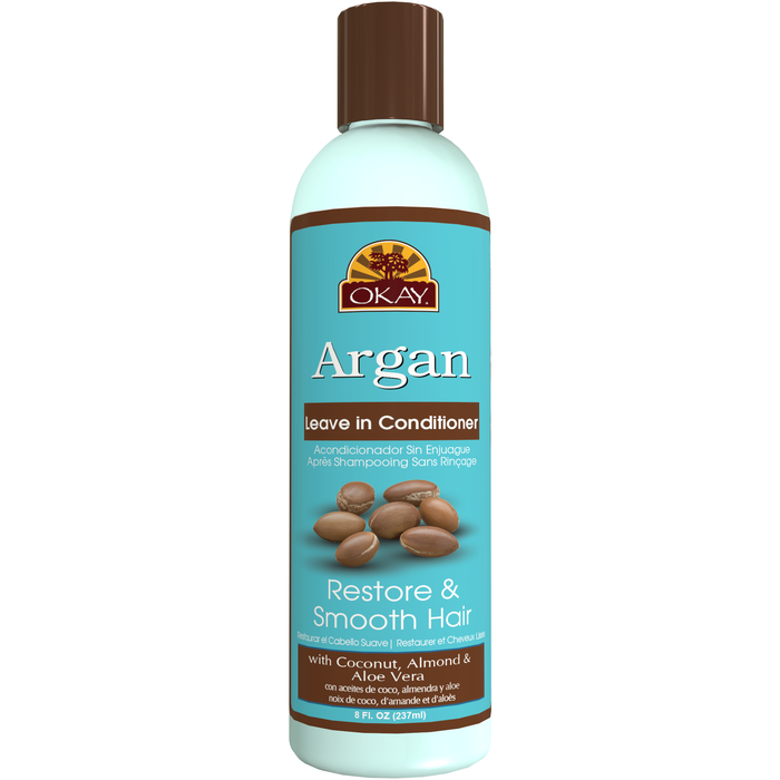OKAY Argan Restore & Smooth Leave In Conditioner 8 fl oz