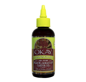 OKAY Black Jamaican Castor Oil with Lemongrass 4 oz