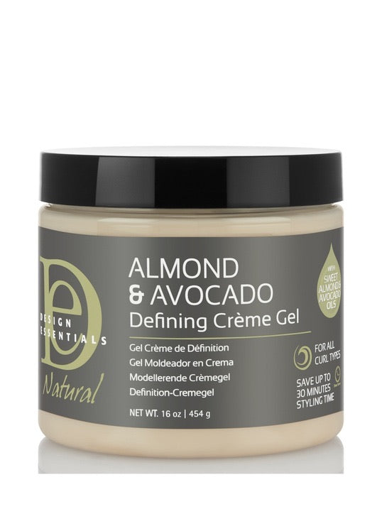 Design Essentials Almond & Avocado Curl Defining Creme Gel 16 oz