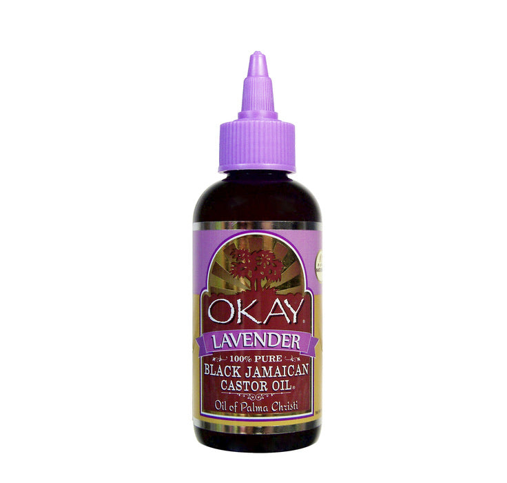 OKAY Black Jamaican Castor Oil with Lavender 4 oz
