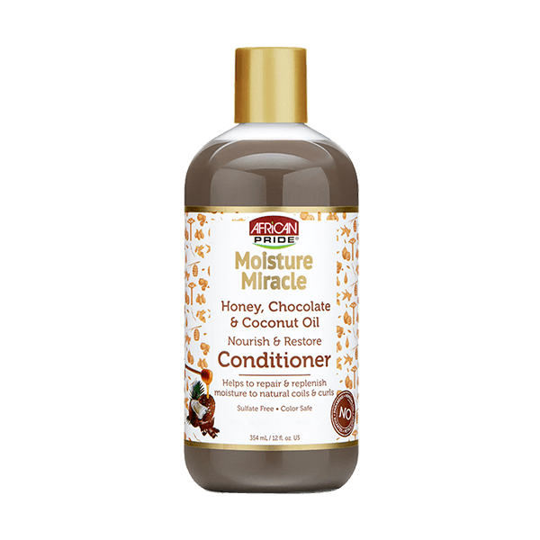 African Pride Moisture Miracle Honey & Chocolate Coconut Conditioner 12 fl oz