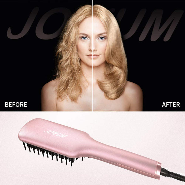 JOYYUM ceramic Hair Straightener Brush