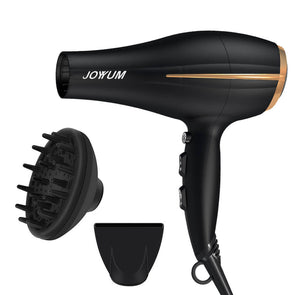 JOYYUM Hair Dryer 1875W, Black and Gold