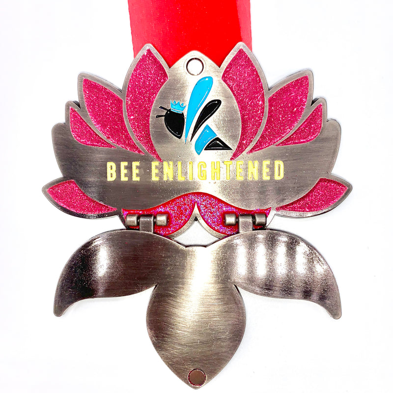 """BEE ENLIGHTENED"" Swarm Yoga Challenge Medal"