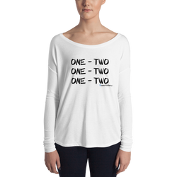 "Women's Long Sleeve Tee - ""One - Two"" - Light"