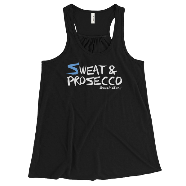 Women's Flowy Racerback Tank - Sweat & Prosecco - Dark