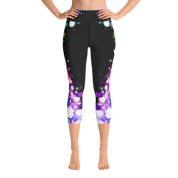 High Waist Capri Leggings - B*tch Find Your Light Series 1 - Dark