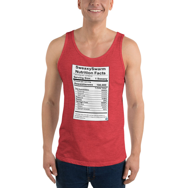 Unisex  Tank Top - Nutrition Label - Dark