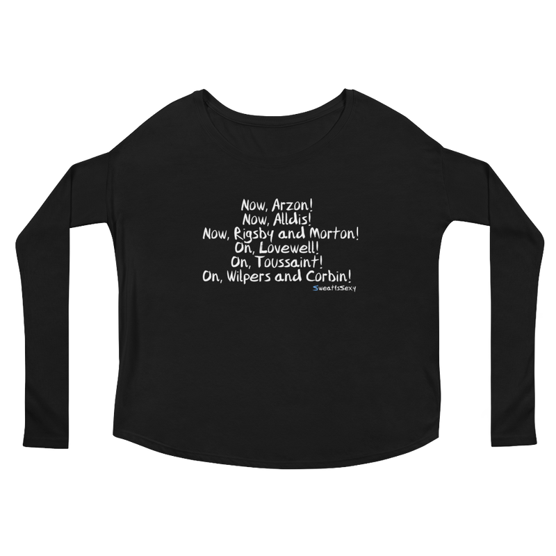Ladies' Long Sleeve Tee - XMAS - Dark