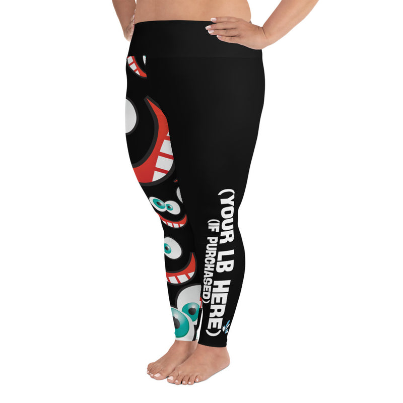 High Waist Plus Size Leggings - Celebrate Your Weirdo - Dark