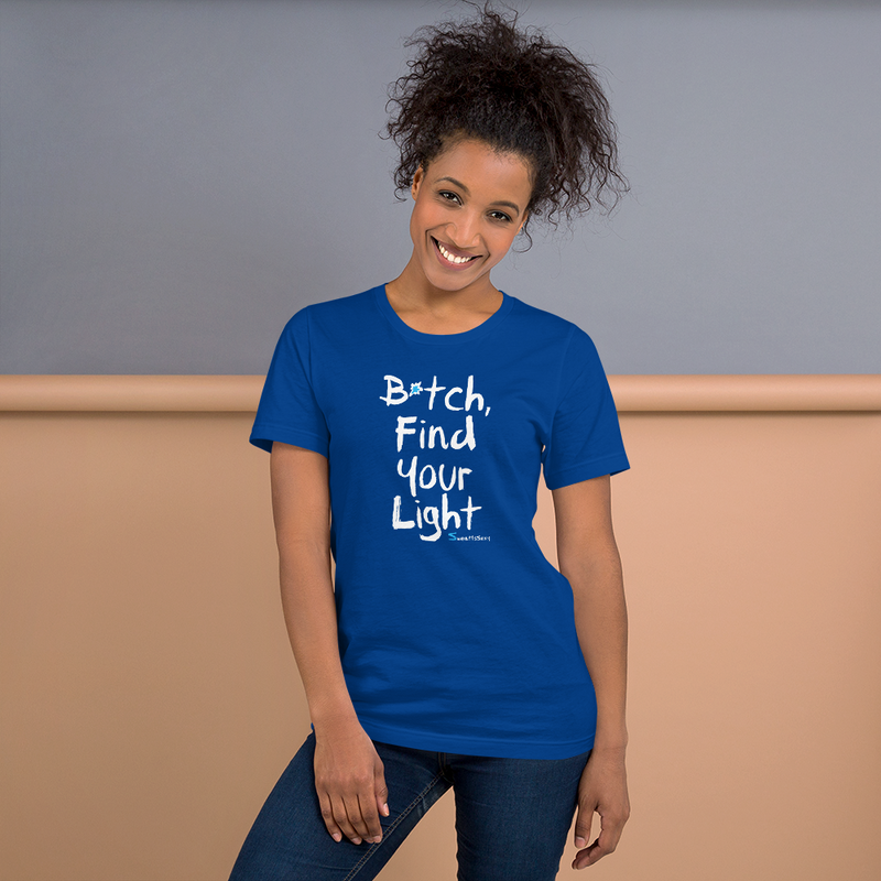 Short-Sleeve Unisex T-Shirt  - Find Your Light - Dark