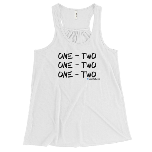 "Women's Flowy Racerback Tank - ""One - Two"" - Light"