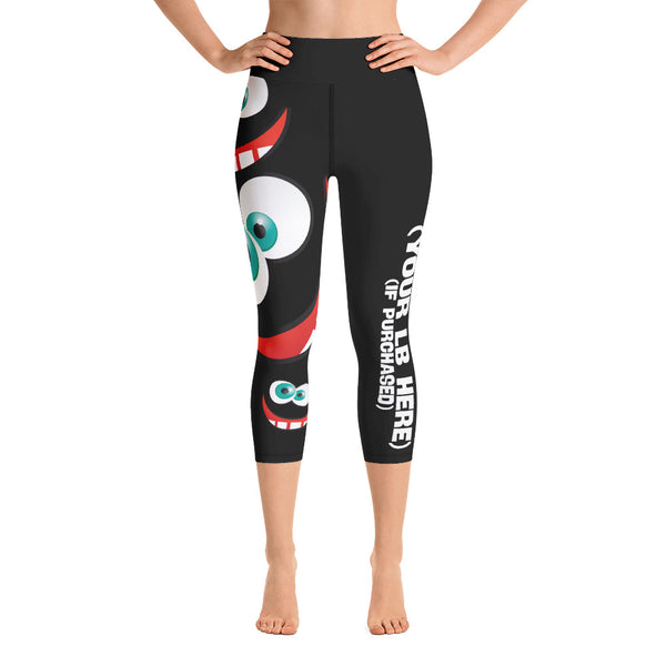 High Waist Capri Leggings - Celebrate Your Weirdo - Dark
