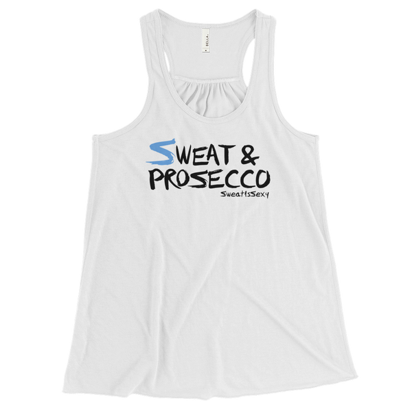 Women's Flowy Racerback Tank - Sweat & Prosecco - Light