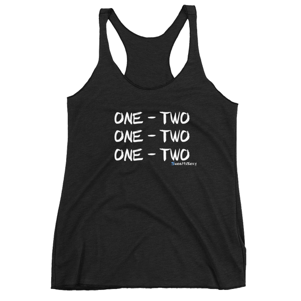 "Women's Racerback Tank - ""One - Two"" - Dark"