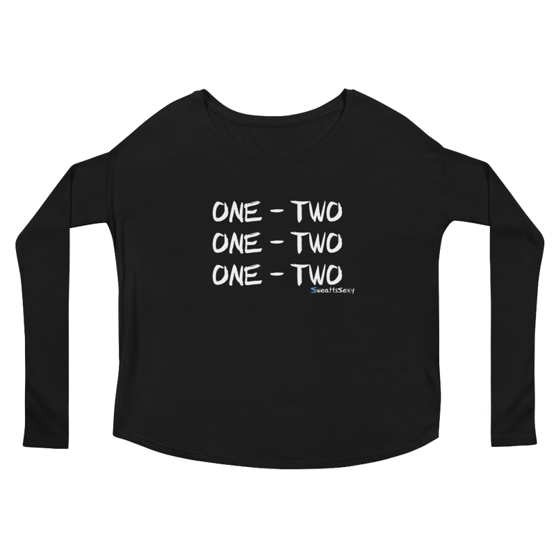 "Women's Long Sleeve Tee - ""One - Two"" - Dark"