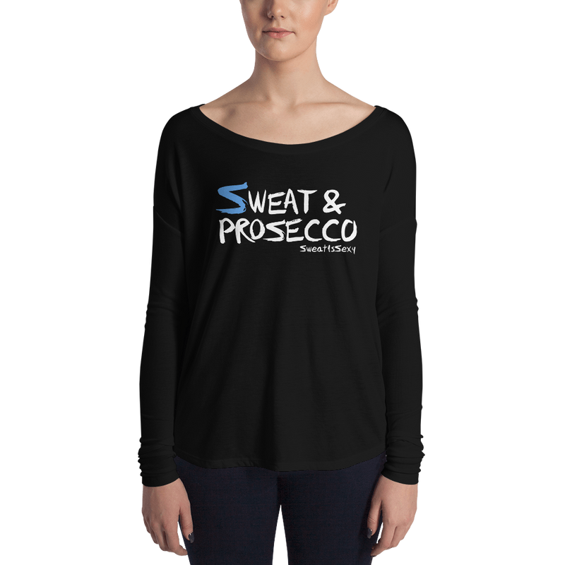 Women's Long Sleeve Tee - Sweat & Prosecco - Dark