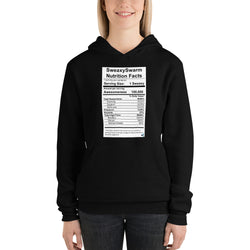 Unisex Hoodie - Nutrition Label - Dark
