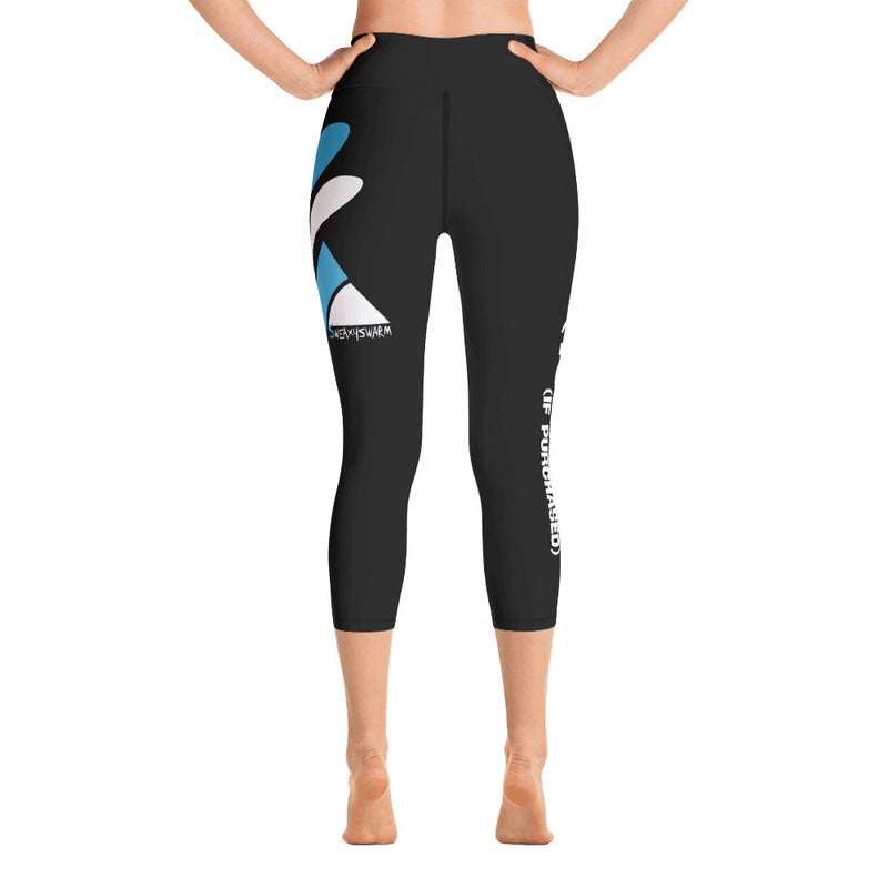 High Waisted Capri Leggings - SweaxySwarm Bee