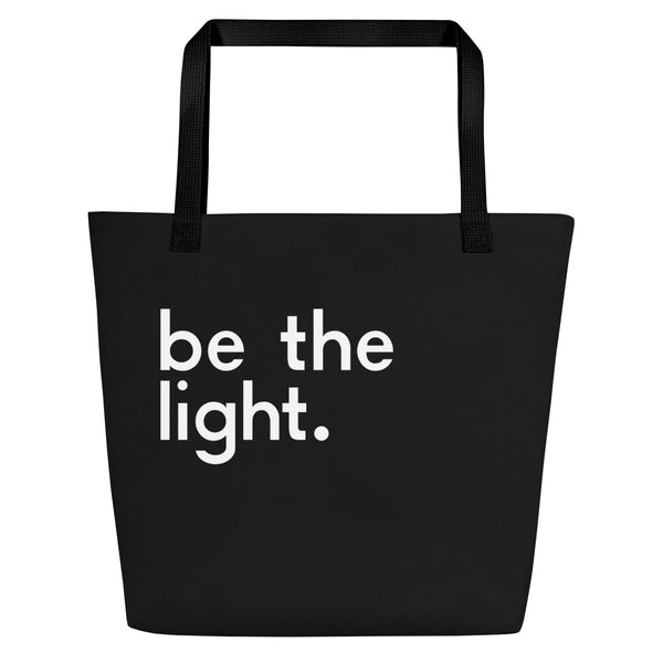 Be The Light Large Tote Bag