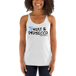 Women's Racerback Tank - Sweat & Prosecco - Light
