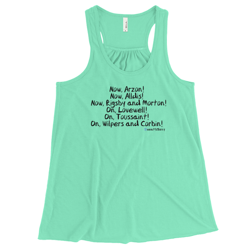 Women's Flowy Racerback Tank - XMAS - Light