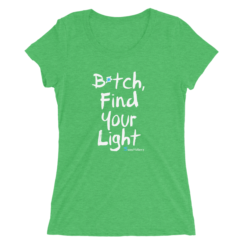 Women's Short Sleeve T-Shirt - Find Your Light - Dark