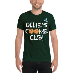 Unisex Short Sleeve T-shirt - Ollie's Cookie Club - Dark