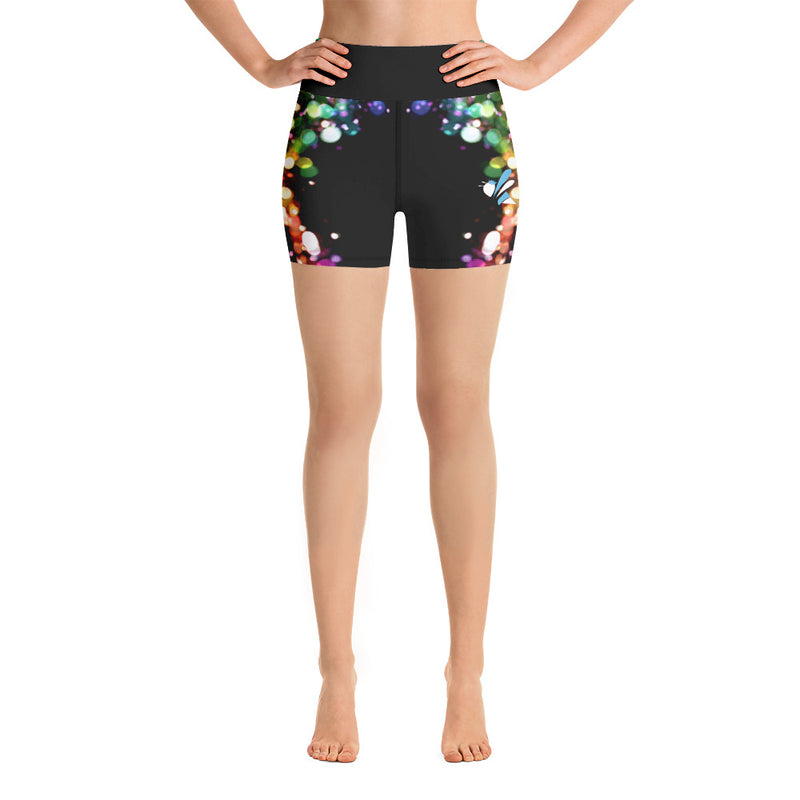 High Waist Shorts - B*tch Find Your Light Series 1 - Dark