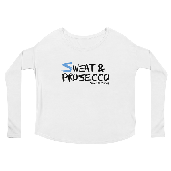 Women's Long Sleeve Tee - Sweat & Prosecco - Light