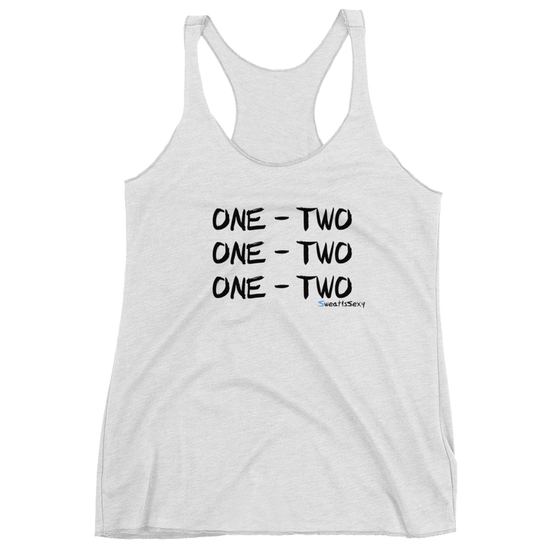 "Women's Racerback Tank - ""One - Two"" - Light"