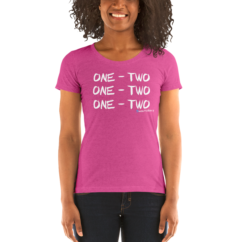 "Women's Short Sleeve T-Shirt - ""One - Two"" - Dark"