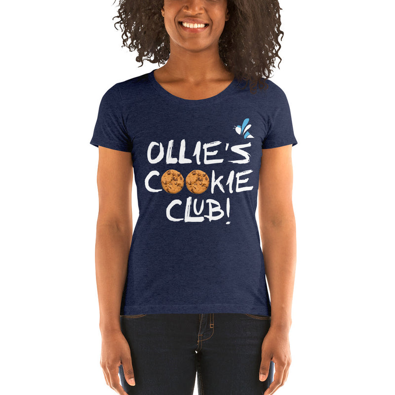 Women's Short Sleeve T-shirt - Ollie's Cookie Club - Dark