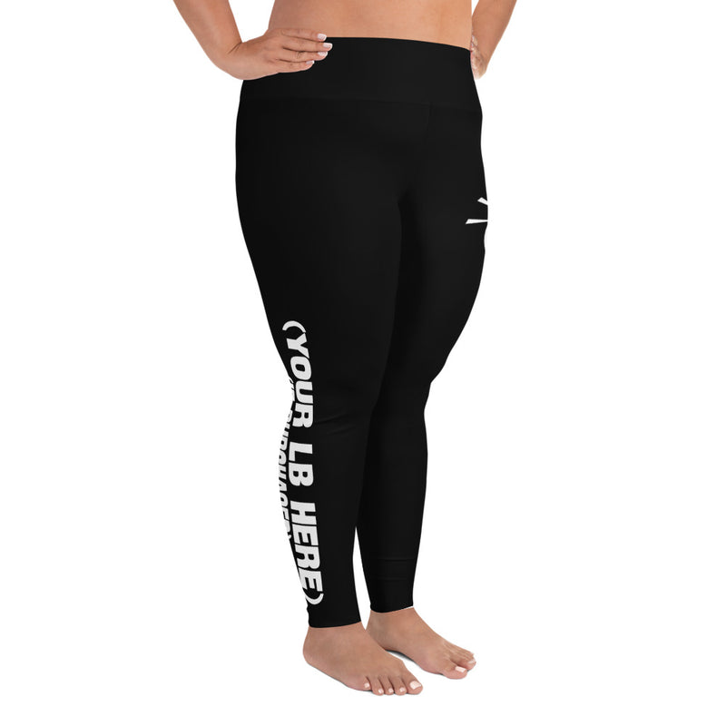 High Waist Plus Size Leggings - SweaxySwarm Bee
