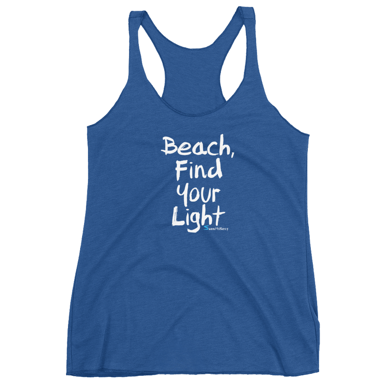 Women's Racerback Tank - Beach FYL - Dark