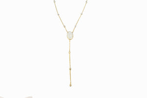 Gold & Moonstone Necklace