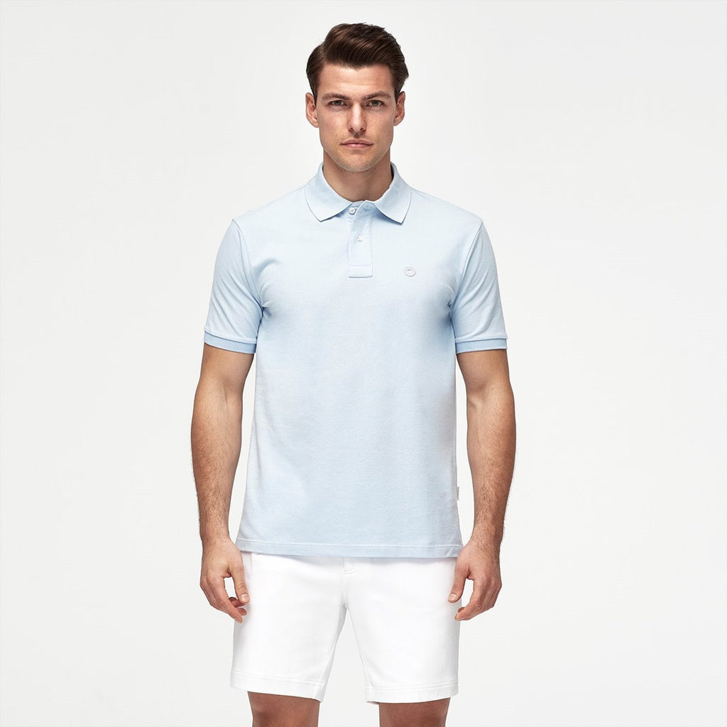 Bruce Polo Shirt Ice Blue
