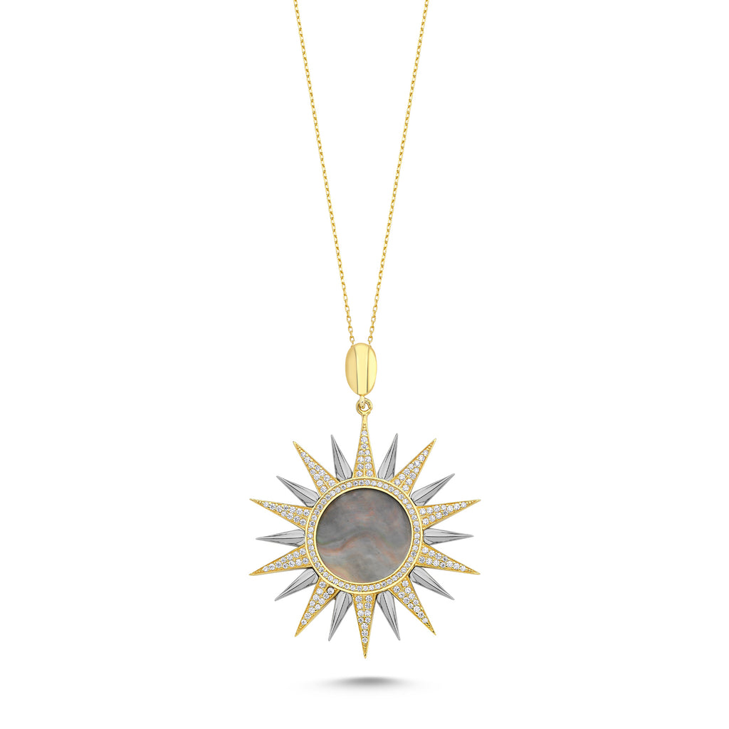 Pearl Sun Necklace ( pendant) KLY145